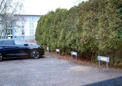 Parkplatz direkt vor der Praxis